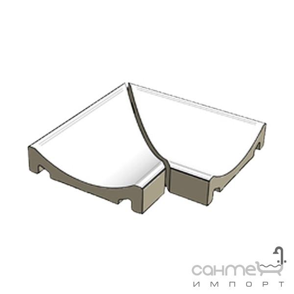 Плитка для бассейна Rako Плитка (водовод угловой из двух частей) Rako Pool XPC58023 матовая гладкая
