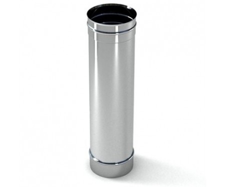 Труба дымоходная из нержавеющей стали L=0,5м диам.