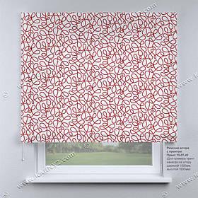 Римская фото штора Завитки. Бесплатная доставка. Любой размер до 3,5х3,5м. Гарантия. Арт. 15-07-43