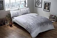 Двуспальное евро постельное белье TAC Glow New York Сатин Fluorescent