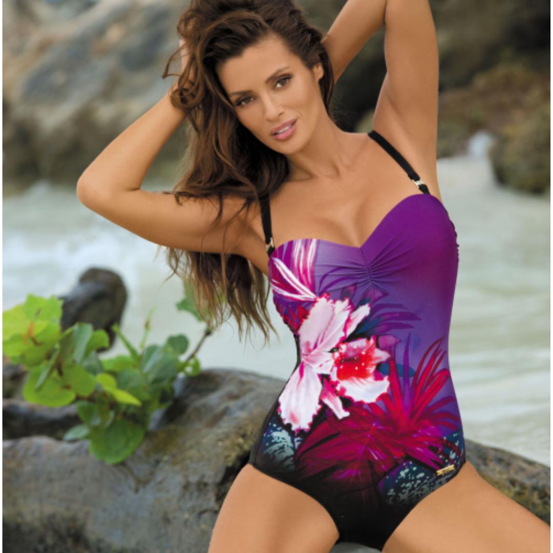 Стильный купальник с цветочным принтом MARKO M 378 NICOLE