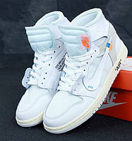 3fdbf70f041abf Мужские кроссовки Nike Air Jordan 1 Retro Off white. Живое фото (Реплика  ААА+