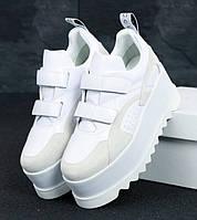 Женские кроссовки Stella McCartney Eclypse Platform black white. Живое фото. Топ качество! (Реплика ААА+)