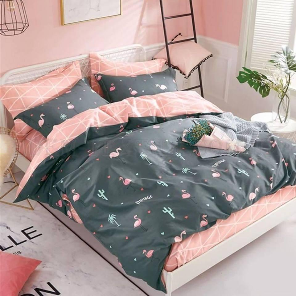 """Комплект постельного белья евро """"Фламинго"""""""