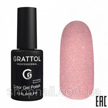 003 - Grattol Color Gel Polish OS Opal, 9ml (пыльный розовый с серебристыми частицами), фото 2