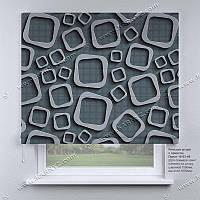 Римская штора 3D Узор. Бесплатная доставка. Любой размер до 3,5х3,5м. Гарантия. Арт. 15-03-49