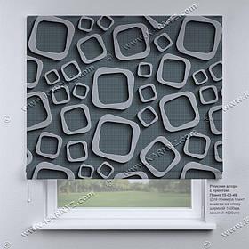 Римская фото штора 3D Узор. Бесплатная доставка. Любой размер до 3,5х3,5м. Гарантия. Арт. 15-03-49