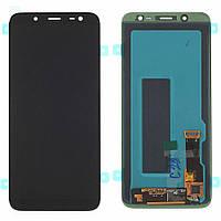 Дисплей (LCD) Samsung J600 Galaxy J6 2018 TFT с тачскрином черный (подсветка Оригинал)