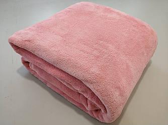 Микрофибровая простынь, плед, покрывало Elway евро Однотонный розово-лиловый