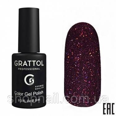 009 - Grattol Color Gel Polish OS Opal, 9ml (сливовый с голографическими частицами), фото 2