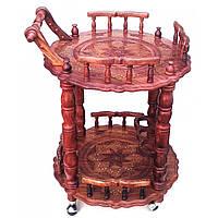 Стол сервировочный круглый розовое дерево 63х60х83см  (32603)
