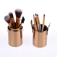 Кисти для макияжа Naked Gold Золотые 12 штук в  (уценка - потерт тубус), фото 1
