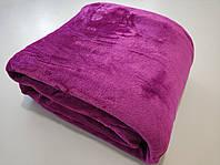 Микрофибровая простынь, плед, покрывало Elway евро Однотонный пурпурный
