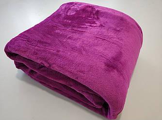 Микрофибровая простынь, покрывало Elway евро Однотонный пурпурный