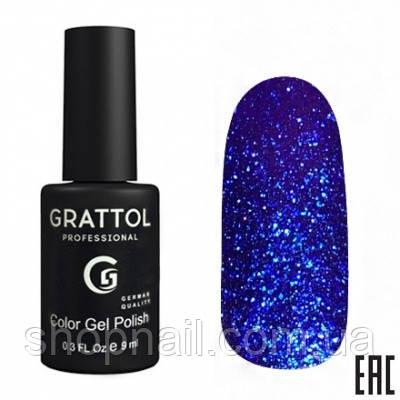 012 - Grattol Color Gel Polish OS Opal, 9ml (ярко-синий электрик)