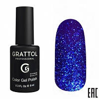 012 - Grattol Color Gel Polish OS Opal, 9ml (ярко-синий электрик)