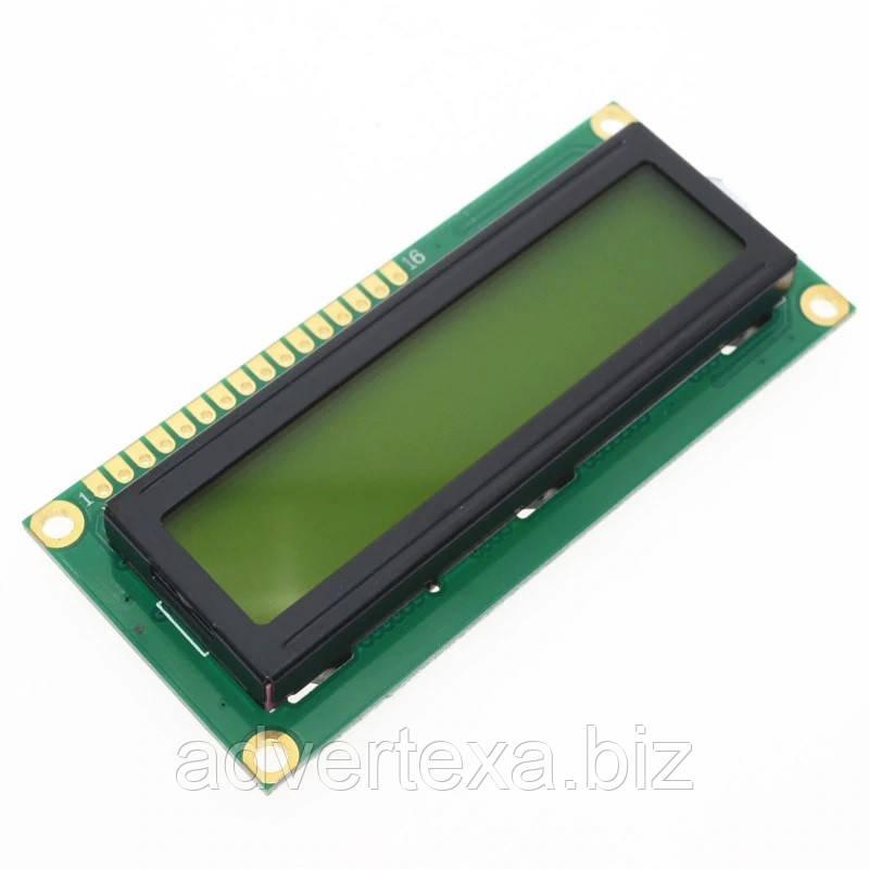ЖКИ модуль LCD 1602 дисплей для Arduino 16х2 зелёный жидкокристалический 2 строки текста по 16 символов.
