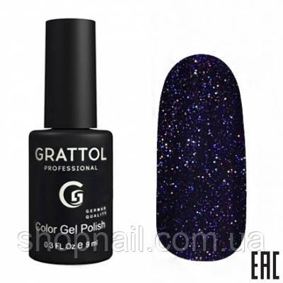 014 - Grattol Color Gel Polish OS Opal, 9ml (индиго с голографическими частицами)