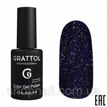 014 - Grattol Color Gel Polish OS Opal, 9ml (индиго с голографическими частицами), фото 2