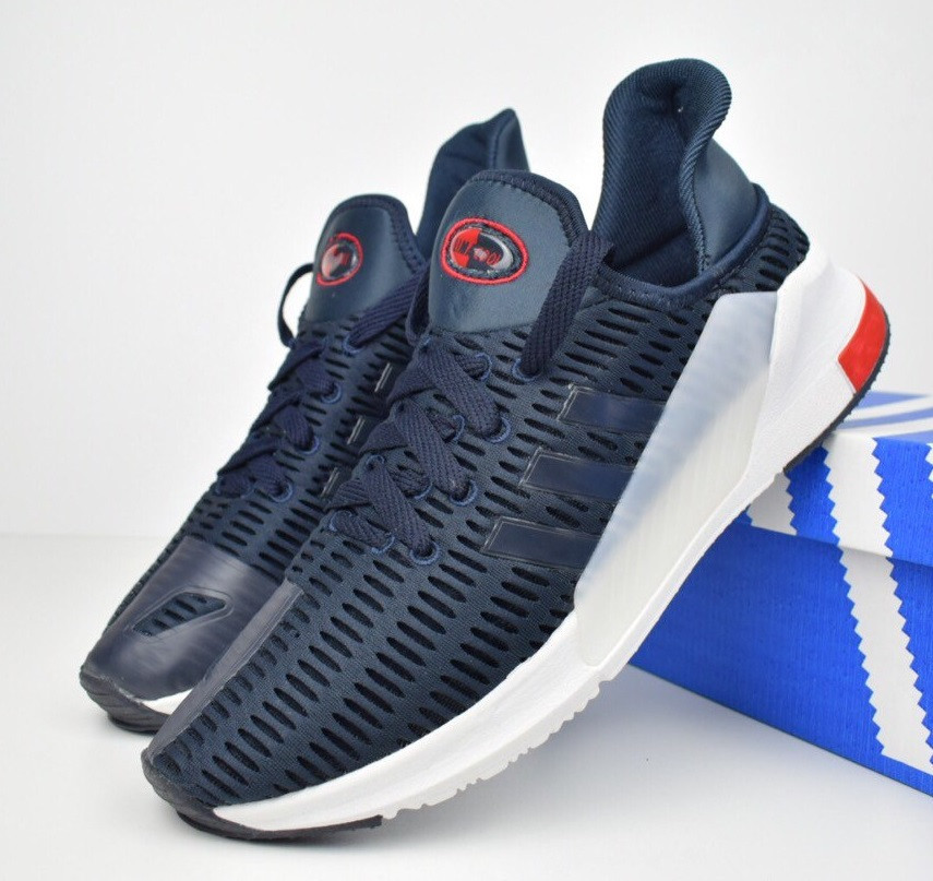 d8c105e2f Мужские кроссовки Adidas Climacool 02/17 синие с белым. Живое фото. Реплика  -