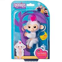 Интерактивная Смешливая обезьянка, Wowwee Fingerlings Интерактивные ручные обезьянки