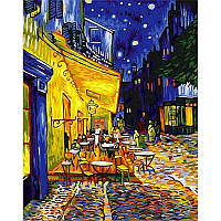 Картина по номерам Babylon Ночная терраса кафе 40Х50см NB504