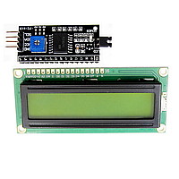 ЖКИ LCD 1602 дисплей с адаптером для Arduino 16х2 зеленый