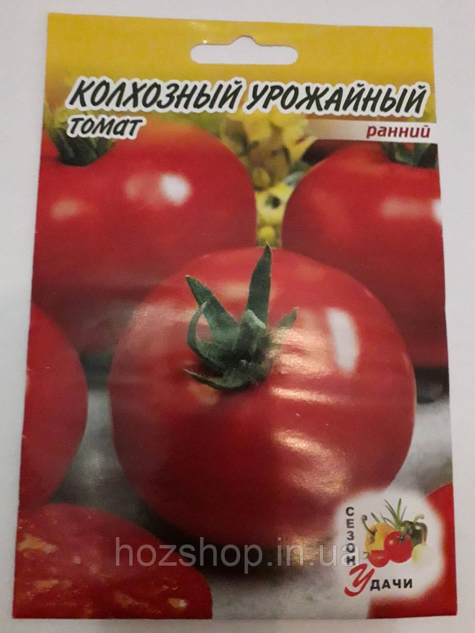 Томат Колхозный Урожайный ранний 500шт.(минимальный заказ 10 пачек)