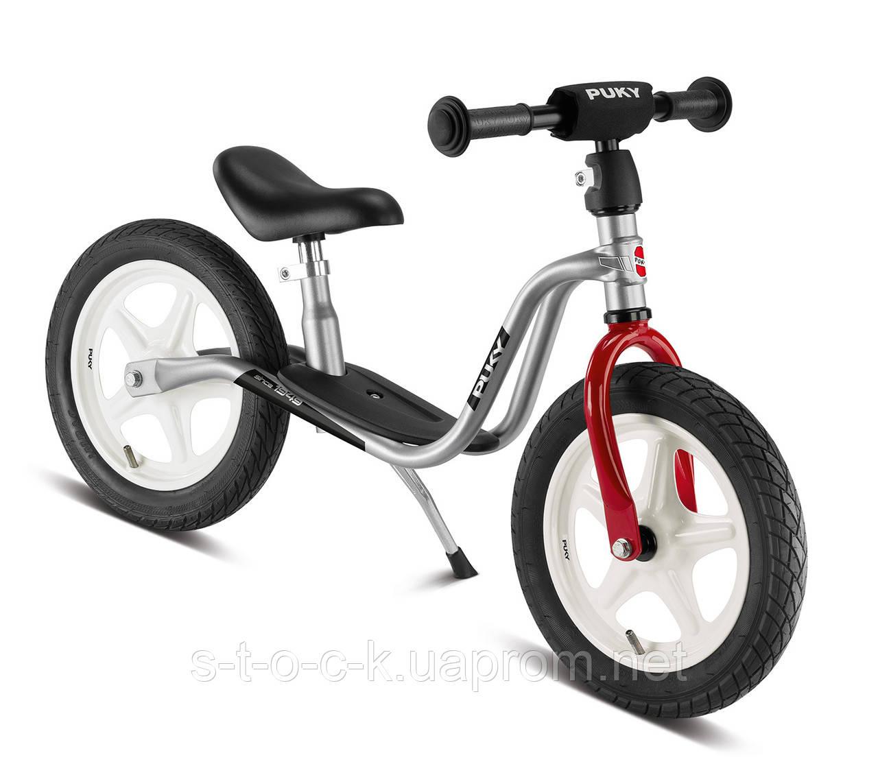 Беговел Puky LR 1L серебристый с надувными колесам. Для детей от 2,5 лет