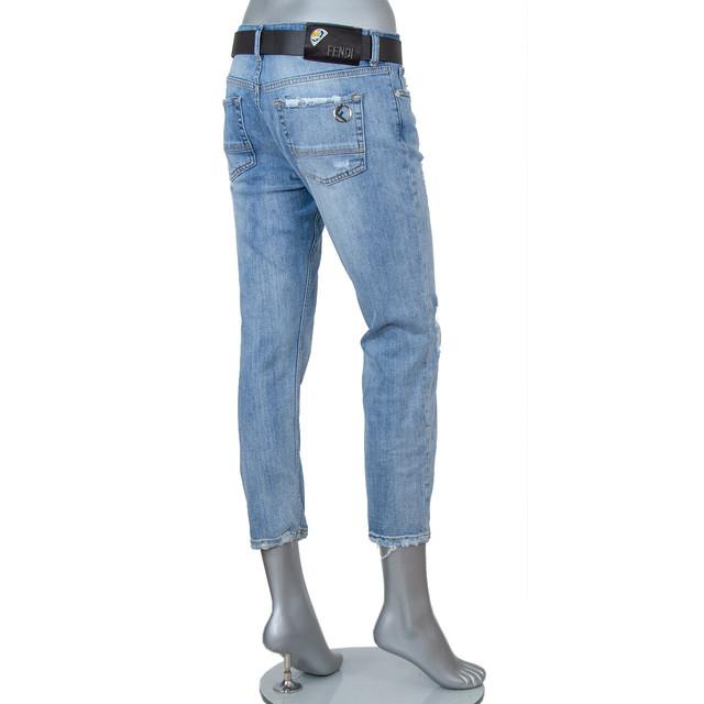 Женские джинсы-бойфренд FENDI