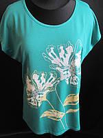 Красивые летние футболки с цветами., фото 1