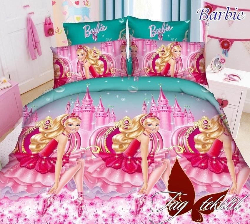 Детское полуторное постельное белье Барби