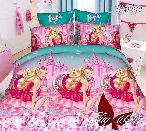 Детское полуторное постельное белье Барби, фото 2