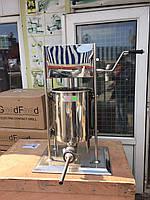 Шприц профессиональный колбасный вертикальный VEKTOR-GRT10L 10 литров, фото 1