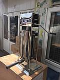 Шприц профессиональный колбасный вертикальный VEKTOR-GRT15L 15 литров, фото 10