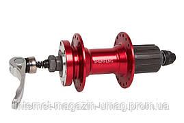 Втулка задняя Al DD кассета 36H 14G красный ось - 10мм 135 с QR SHUNFENG SF-A262R R8