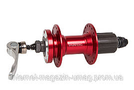 Втулка задняя Al DD кассета 32H 14G красный ось - 10мм 135 с QR SHUNFENG SF-A262R R8