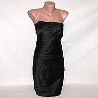 Черное коктейльное платье на стройную девушку р. S 42