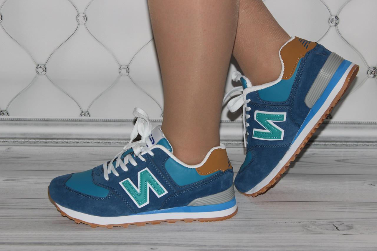 Женские кроссовки синего цвета в стиле New Balance (копия)