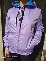 Модная спортивная женская ветровка. Фиолетовая.2020