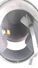Шлем для мотоцикла F2 черный мат с красным рисунком Predators (model 504), фото 3
