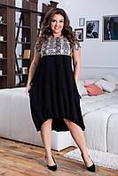 Асимметричное  платье свободного кроя с принтом большой размер, фото 1