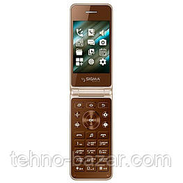 Мобильный телефон Sigma mobile X-style 28 Flip Brown Spreadtrum SC6531CA 800 мАч