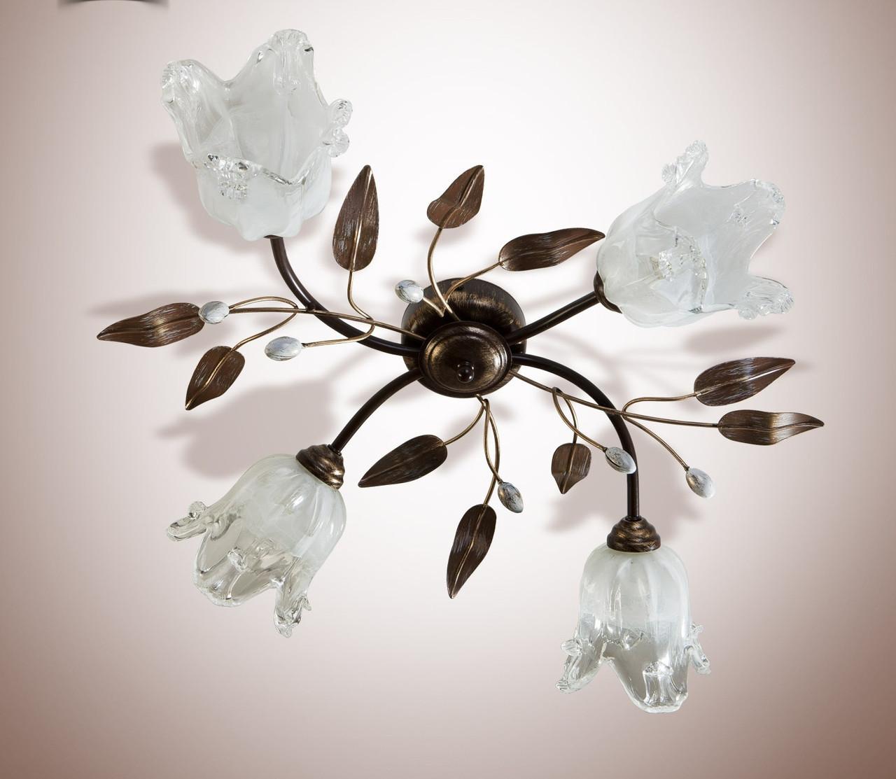 Люстра металлическая флористика 11444