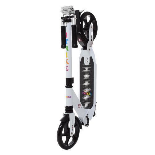 Городской самокат для взрослых Scooter iTrike SR 2-024-2, белый с черными колесами