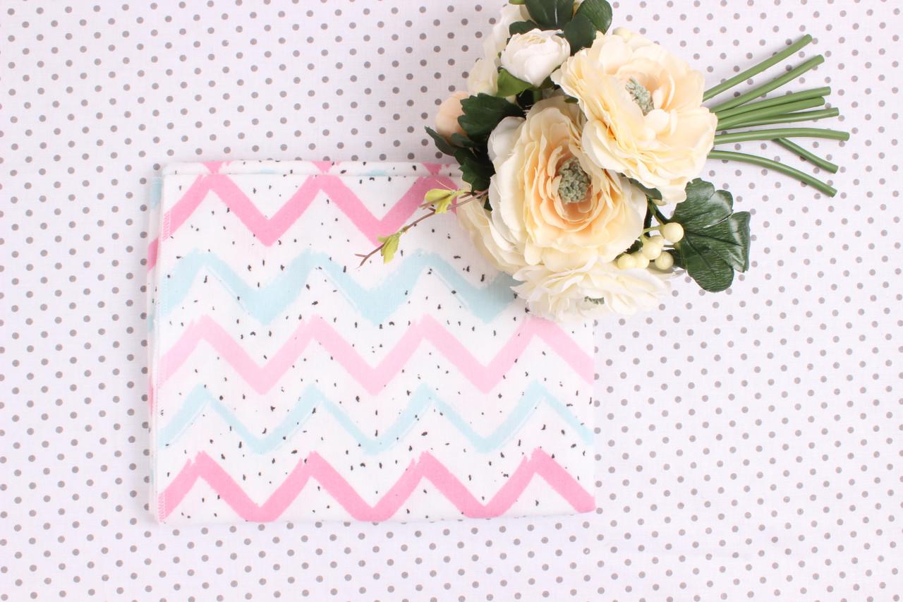 Фланелевая пеленка маленькие Розовый зиз-заг