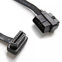 Удлинитель OBD2 16-pin (удлиняющий кабель, проходной разьем) 45 см, фото 1