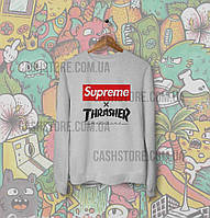 Cвитшот | Толстовка | Supreme x Thrasher | Унисекс