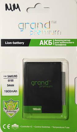 Акумулятор GRAND Premium Samsung S4 mini/i9190 1900mAh, фото 2