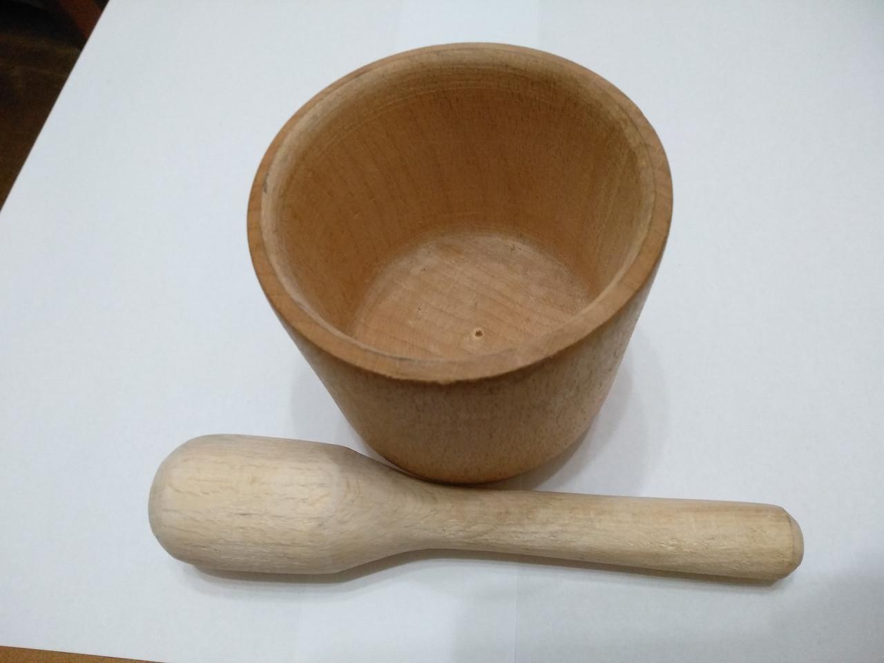 Ступа деревянная с пестиком обычная
